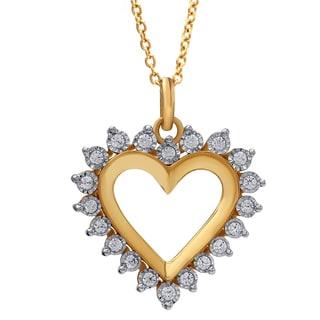 14k Yellow Gold 1/3ct TDW Diamond Pendant (I-J, I2-I3)