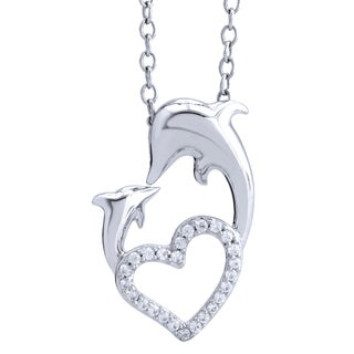 Sterling Silver 1/10ct TDW Diamond Paw Pendant