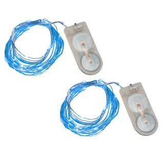 Blue Battery Operated Waterproof Mini String Lights (Set of 2)