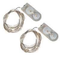 Bright White Battery Operated Waterproof Mini String Lights (Set of 2)