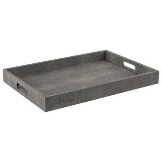 Safavieh Couture High Line Collection Keanu Shagreen Faux Stingray Black Tray