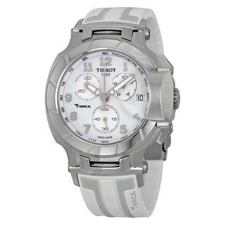 Tissot Men's T0484171701200 'T-Race' Chronograph White Rubber Watch