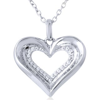 10k White Gold 1/4ct TDW Diamond Pendant (I-J, I2-I3)