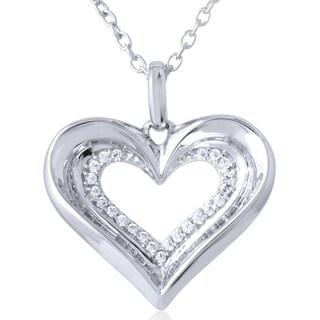10k White Gold 1/4ct TDW Diamond Pendant (I-J, I2-I3)