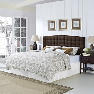Dorel Living Torino Brown Tufted Headboard