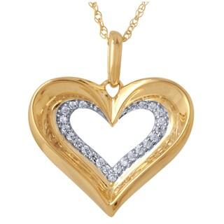 10k White Gold 1/2ct TDW Diamond Pendant (I-J, I2-I3)