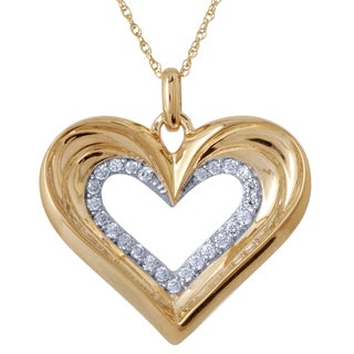 10k Yellow Gold 1/6ct TDW Diamond Pendant (I-J, I2-I3)