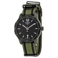 Tissot Men's T0954103705700 'Quickster' Extra Bands Green Nylon Watch