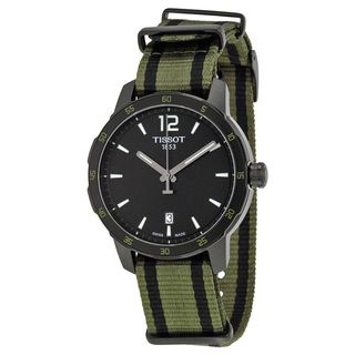Tissot Men's T0954103705700 'Quickster' Extra Bands Green Nylon Watch