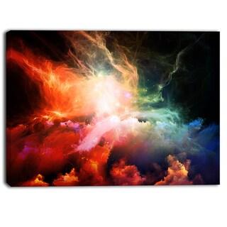 Designart - Colorful Nebulae - Contemporary Artwork