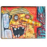 Designart - Funny Street Art - Graffiti Canvas Art Print
