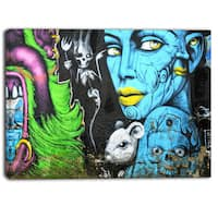 Designart - Mural Wall Art - Street Canvas Art Print