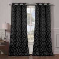 Charlotte Blackout Grommet Curtain Panel Pair - 38x84