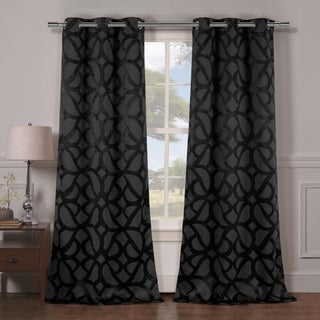 Charlotte Blackout Grommet Curtain Panel Pair - 38x84