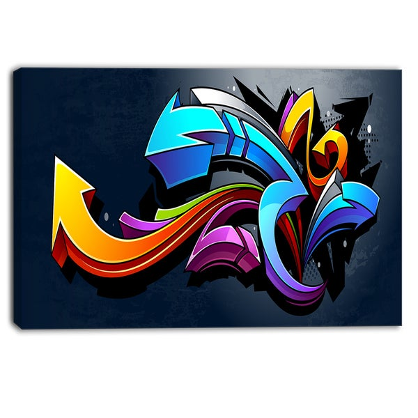 Shop Designart - Direction Street Art - Graffiti Canvas ...