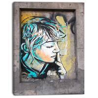Designart - Street - Street Art Canvas Print