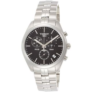 Tissot Men's 'PR 100' Chronograph Stainless Steel Watch