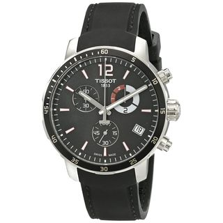 Tissot Men's T0954491705700 'Quickster' Chronograph Black Silicone Watch