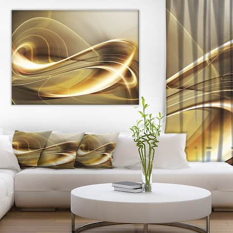 Designart - Elegant Modern Sofa - Abstract Digital Canvas Print