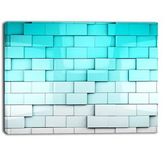 Designart - Blue Mosaic Cubes - Contemporary Artwork