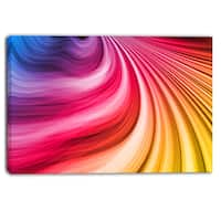 Designart - Abstract Colorful Waves - Contemporary Canvas Art Print