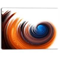 Designart - Elegant Spiral Design - Digital Canvas Art Print
