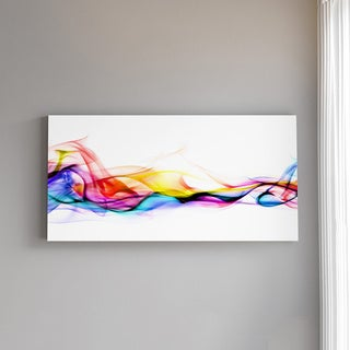 Designart - Abstract Smoke - Contemporary Artwork