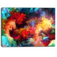Designart - Fractal Paint Fusion - Contemporary Art Canvas Print