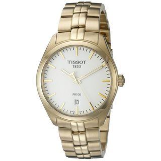 Tissot Men's T1014103303100 'PR 100' Gold-Tone Stainless Steel Watch