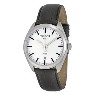 Tissot Men's T1014101603100 'PR 100' Black Leather Watch
