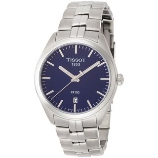 Link to Tissot Men's T1014101104100 'PR 100' Stainless Steel Watch Similar Items in Men's Watches