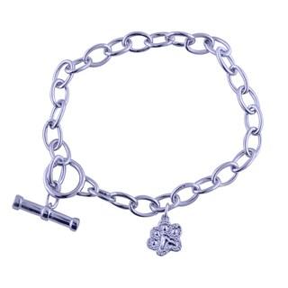 Bridal Symphony Sterling Silver Diamond Accent Puppy Paw Bracelet|https://ak1.ostkcdn.com/images/products/11333424/P18308768.jpg?_ostk_perf_=percv&impolicy=medium