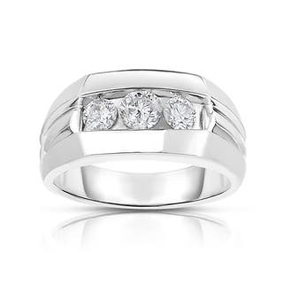 MWI Eloquence 14k White Gold, 1ct TDW Diamond Mens Wedding Ring|https://ak1.ostkcdn.com/images/products/11333433/P18308762.jpg?impolicy=medium