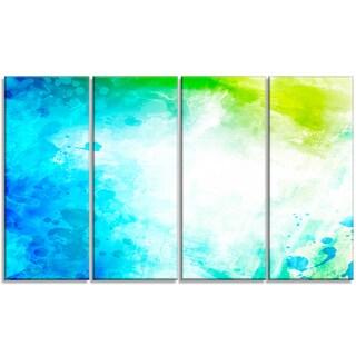 Designart - Abstract Watercolor Art -4 Panels Abstract Canvas Artwork