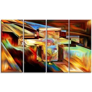Designart - Light of the Cross -4 Panels Abstract Canvas Artwork