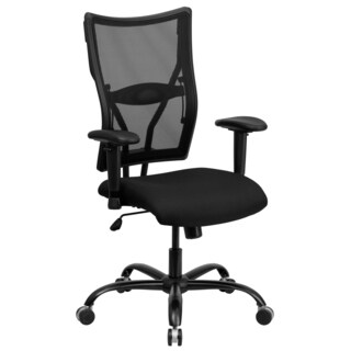 Liberty Black Mesh Executive Swivel Office Chair with Height Adjustable Arms