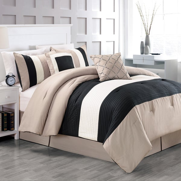 Fall River Luxury Taupe 5-Piece Comforter Set