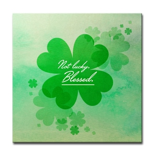Ready2HangArt 'Not Lucky, Blessed' Canvas Art