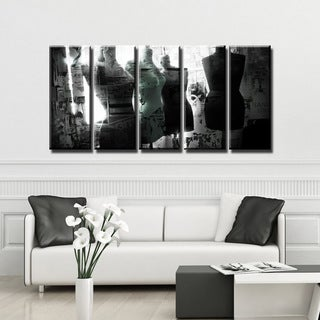 Ready2HangArt 'Urban Fashion VI' 5-PC Canvas Art Set - BLACK/WHITE