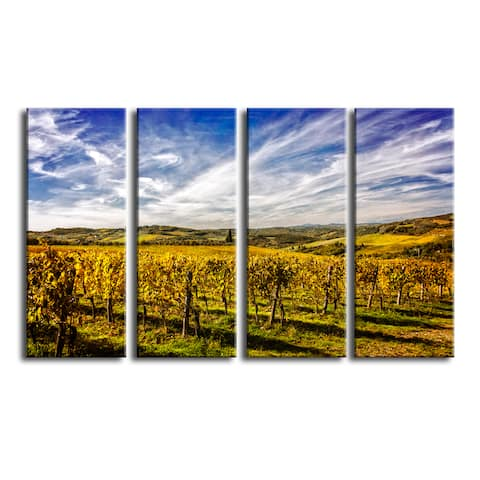 Ready2HangArt Bruce Bain 'Tuscan Landscape VIII' 4-PC Canvas Art Set