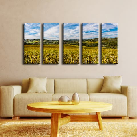 Ready2HangArt Bruce Bain 'Tuscan Landscape VI' 5-PC Canvas Art Set