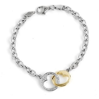 Bridal Symphony Sterling Silver 1/8ct TDW Diamond Bracelet
