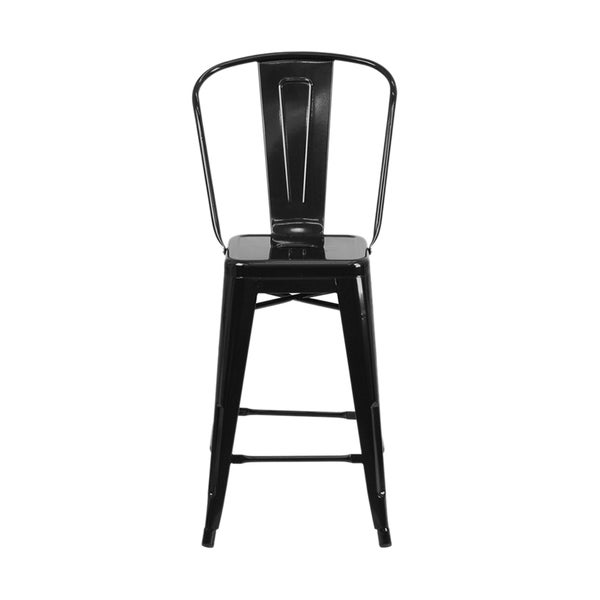 Offex 24 High Metal Counter Height Stool Free Shipping