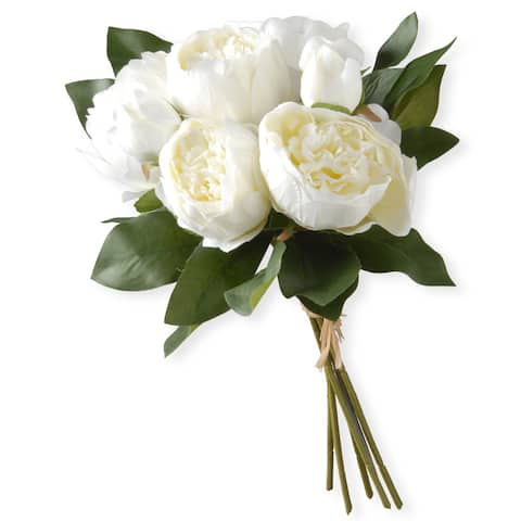 National Tree Company White Peony Bundle