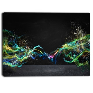 Designart - Abstract Motion Banner - Contemporary Canvas Art Print
