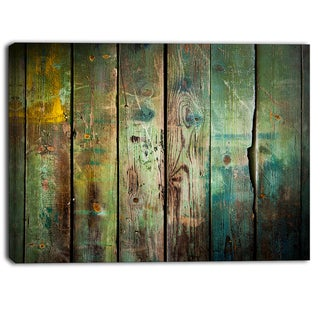 Designart - Old Wood Pattern -Contemporary Canvas Art Print