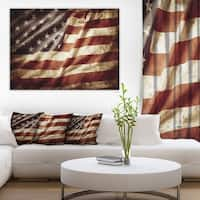 Designart - American Flag - Contemporary Canvas Art Print
