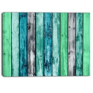 Designart - Painted Wooden Planks - Digital Canvas Art Print