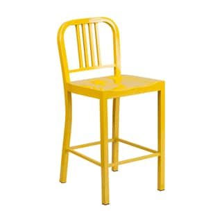 Offex 24'' High Metal Indoor-Outdoor Counter Height Stool