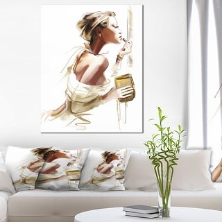 Designart - Fashion Woman - Portrait Digital Canvas Art Print